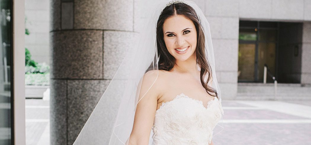 Bridal portrait with bride smiling in Philadelphia, PA - Event Planner