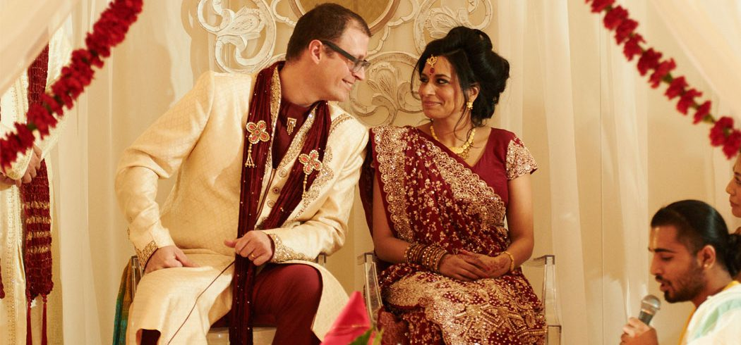 Bride and Groom during traditional Indian wedding ceremony in Philadelphia, PA - Event Planner