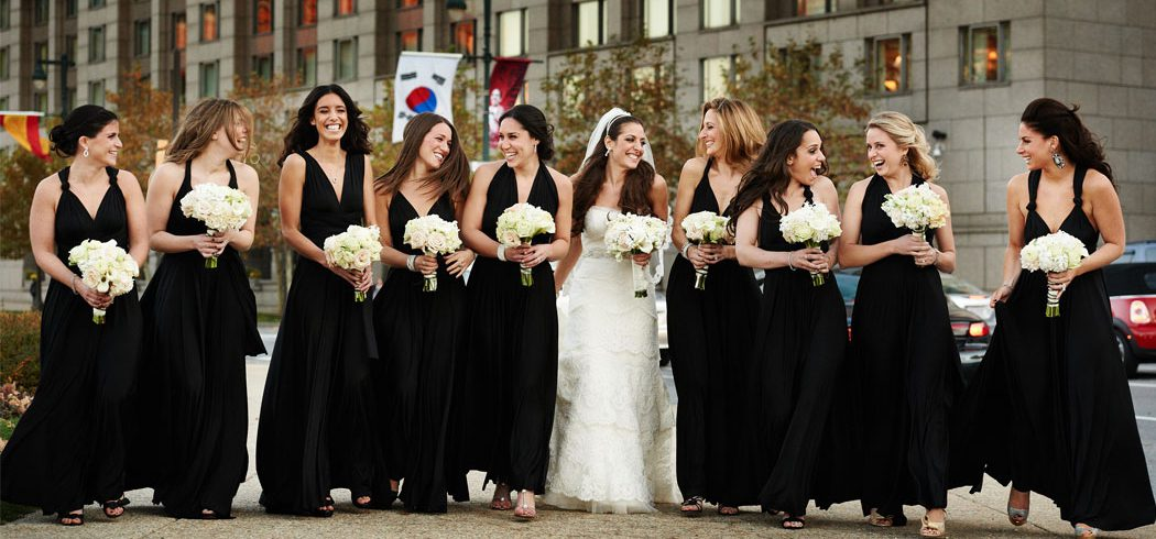 Bride with Bridesmaids laughing at Wedding in Philadelphia, PA - Event Planning