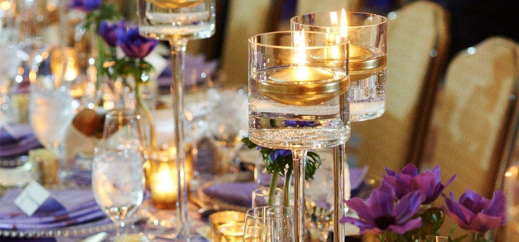 Table centerpieces at wedding reception in Philadelphia, PA - Event Planner