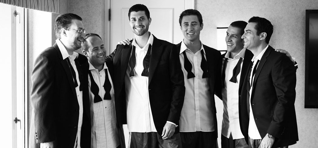 Groom and groomsmen getting ready for wedding day in Philadelphia, PA - Event Planner