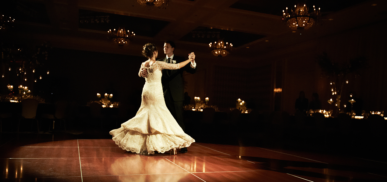 Bride and Groom at Wedding sharing their first dance in Philadelphia, PA. Event Planning